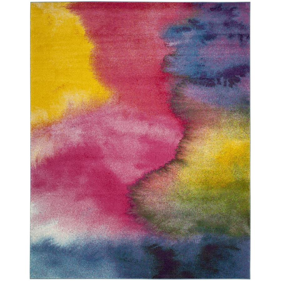 Safavieh Watercolor Bella 8 X 10 Green Fuchsia Indoor Abstract Area Rug In The Rugs Department At Lowes Com