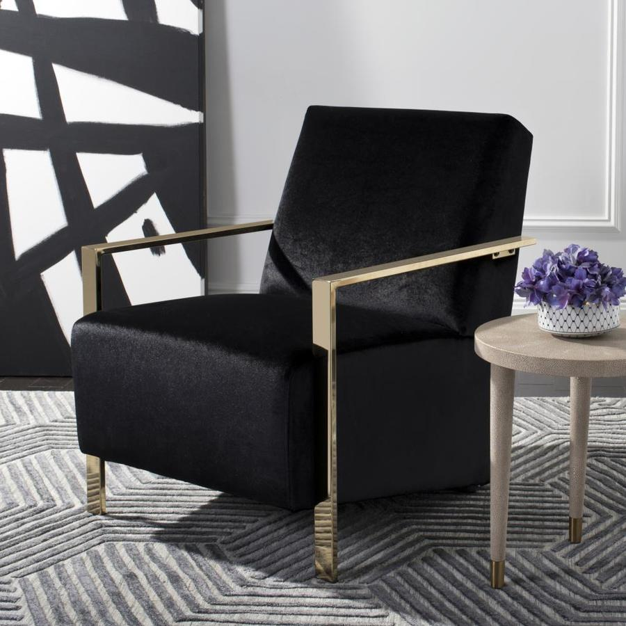 Safavieh Orna Casual Black Accent Chair At Lowes Com