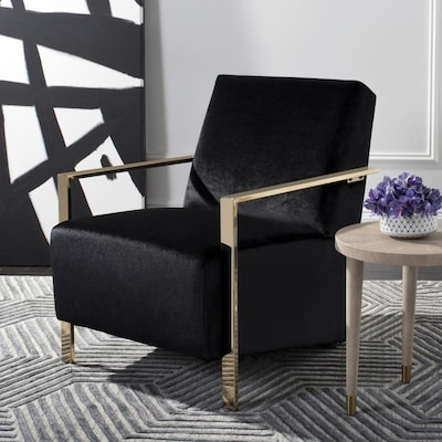 Outstanding Safavieh Orna Casual Black Accent Chair At Lowes Com Creativecarmelina Interior Chair Design Creativecarmelinacom