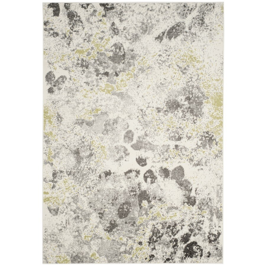 Safavieh Watercolor Clive 4 X 6 Ivory Gray Indoor Abstract Area Rug In The Rugs Department At Lowes Com