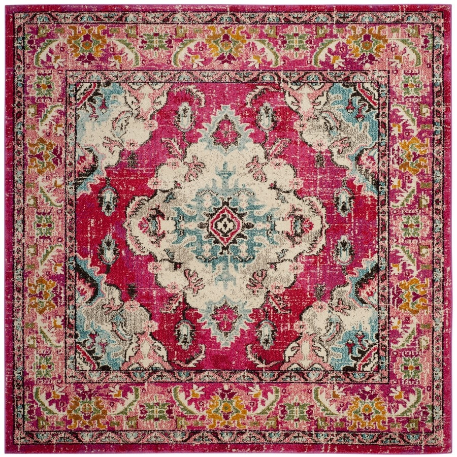 Safavieh Monaco Mahal Pink Square Indoor Oriental Area Rug (Common: 9 x 9; Actual: 9-ft W x 9-ft L)