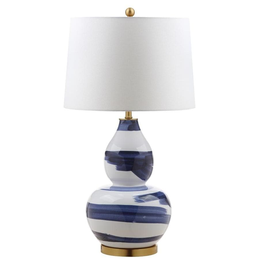 Shop safavieh aileen table lamp bluewhite at lowes safavieh aileen table lamp bluewhite mozeypictures Choice Image
