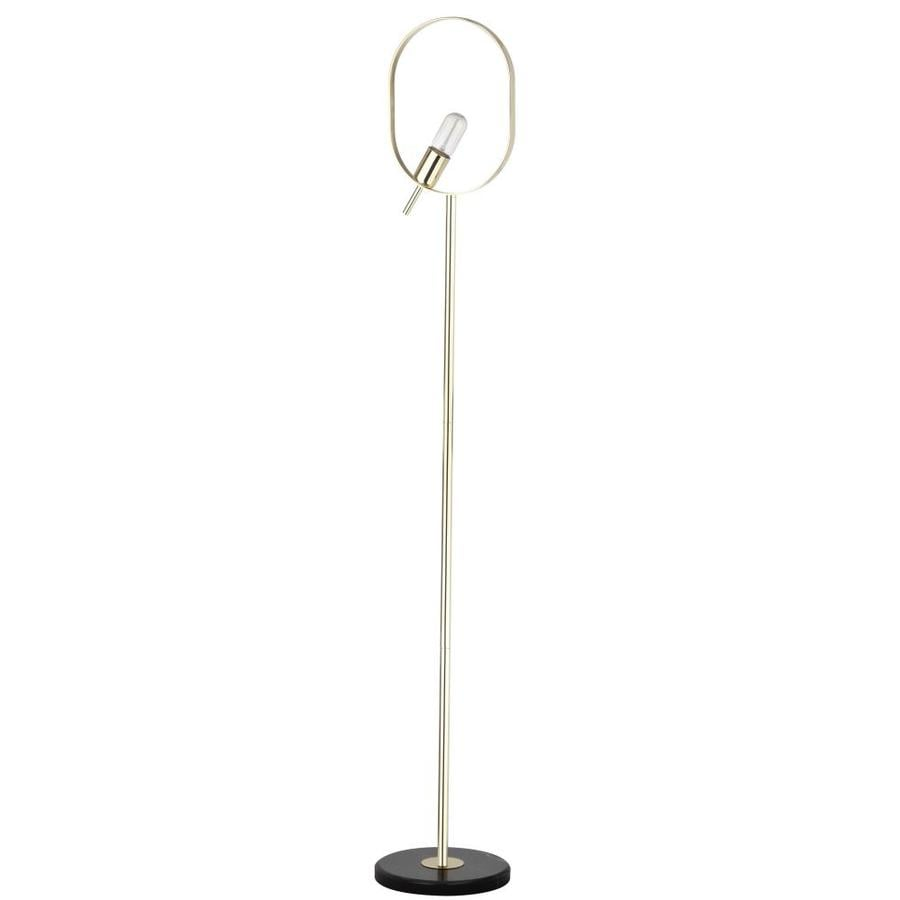 Shop safavieh gavino 63 in gold foot switch torchiere floor lamp at safavieh gavino 63 in gold foot switch torchiere floor lamp aloadofball Choice Image