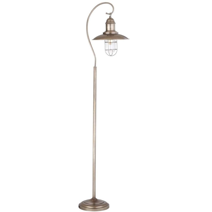 Shop safavieh romelo 665 in silvergray foot switch downbridge safavieh romelo 665 in silvergray foot switch downbridge floor lamp with metal shade aloadofball Images