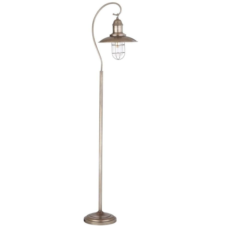 Shop safavieh romelo 665 in silvergray foot switch downbridge safavieh romelo 665 in silvergray foot switch downbridge floor lamp with metal shade aloadofball