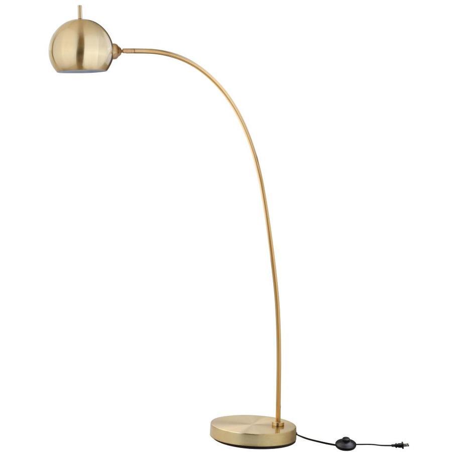 Safavieh Belami 66 In Gold Arc Floor Lamp In The Floor Lamps Department At Lowes Com