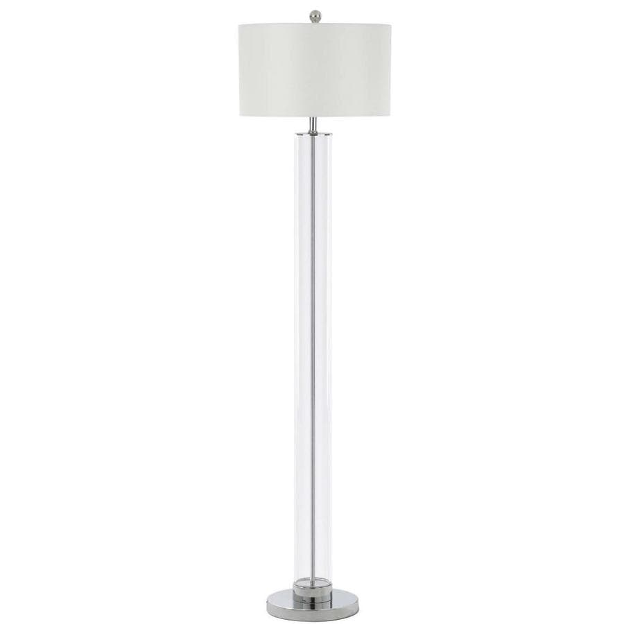 Safavieh Lovato 64-in Clear Rotary Socket Floor Lamp with Fabric Shade