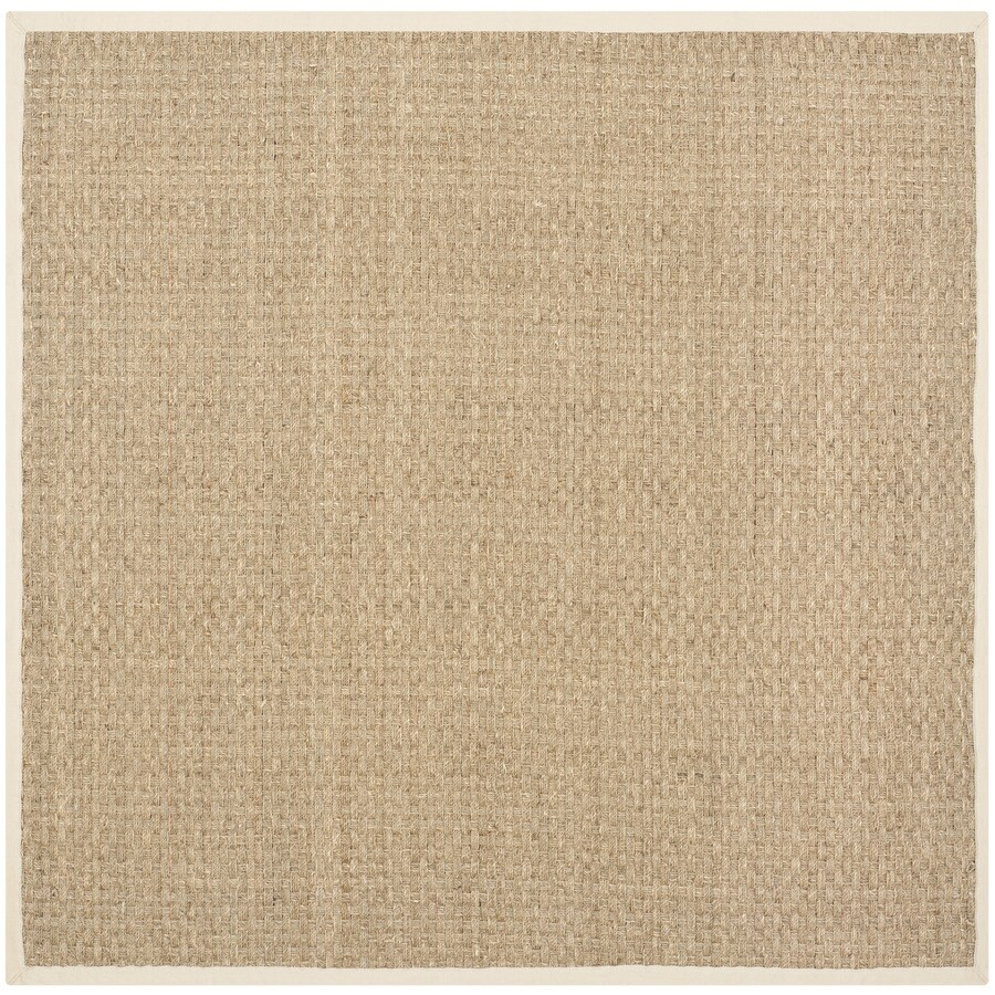 Safavieh Natural Fiber Hampton Natural/Beige Square Indoor Coastal Area Rug (Common: 5 x 5; Actual: 5-ft W x 5-ft L)
