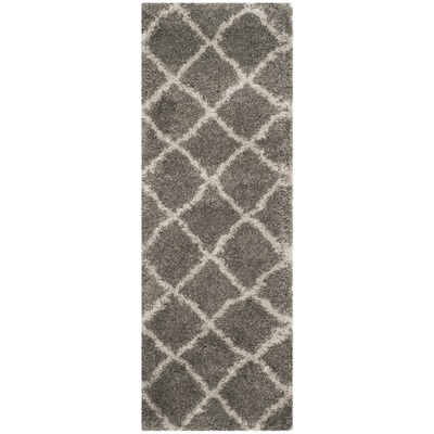 Gray Taupe Indoor Moroccan Throw Rug