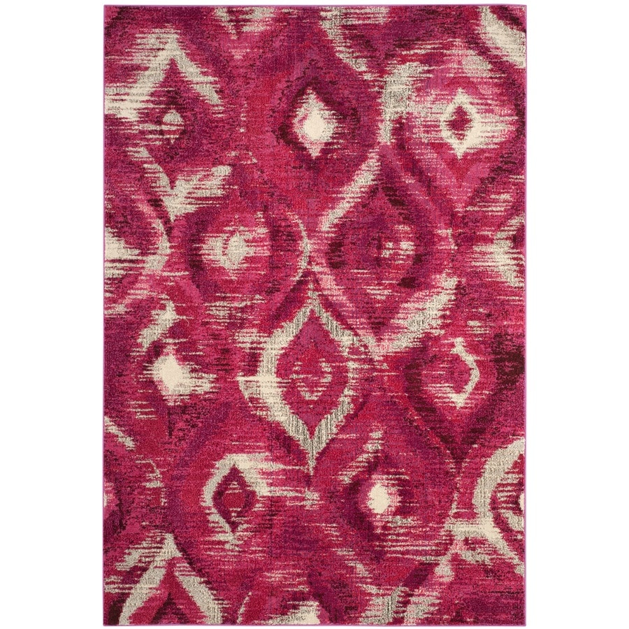 Safavieh Monaco Dominon Fuchsia/Cream Indoor Area Rug (Common: 7 x 9; Actual: 6.7-ft W x 9.2-ft L)