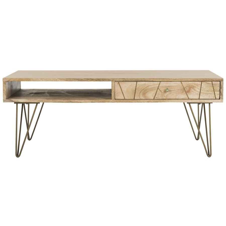 Shop safavieh marigold natural mango coffee table at lowes safavieh marigold natural mango coffee table geotapseo Gallery