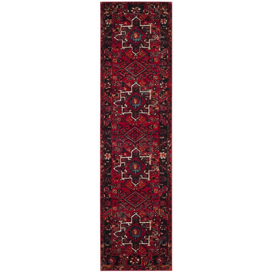Safavieh Vintage Hamadan Caucasian Red Indoor Lodge Runner (Common: 2 x 6; Actual: 2.2-ft W x 6-ft L)