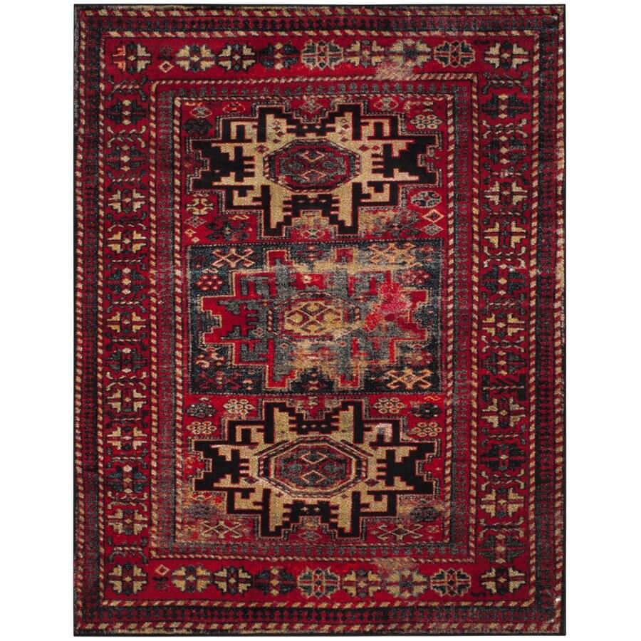 Safavieh Vintage Hamadan Kazak Red Indoor Lodge Area Rug (Common: 9 x 12; Actual: 9-ft W x 12-ft L)