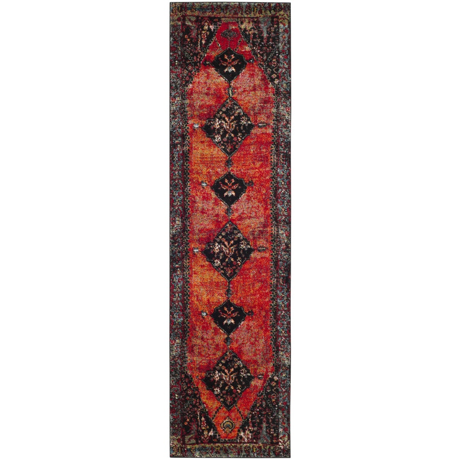 Safavieh Vintage Hamadan Bidjar Orange Indoor Lodge Runner (Common: 2 x 10; Actual: 2.2-ft W x 10-ft L)