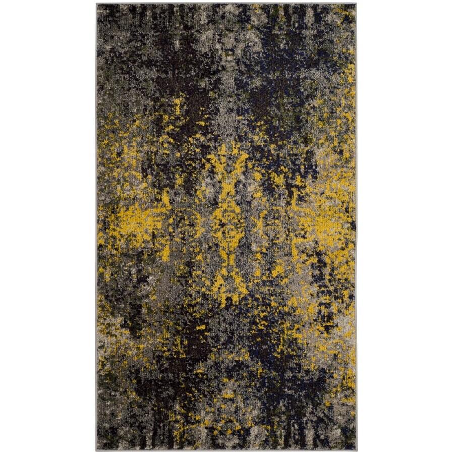 Safavieh Monaco Veras Gray/Multi Rectangular Indoor Machine-made Distressed Throw Rug (Common: 3 x 5; Actual: 3-ft W x 5-ft L)