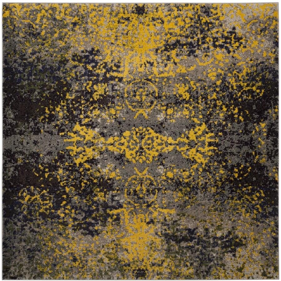 Safavieh Monaco Veras Gray Square Indoor Distressed Area Rug (Common: 7 x 7; Actual: 6.7-ft W x 6.6-ft L)