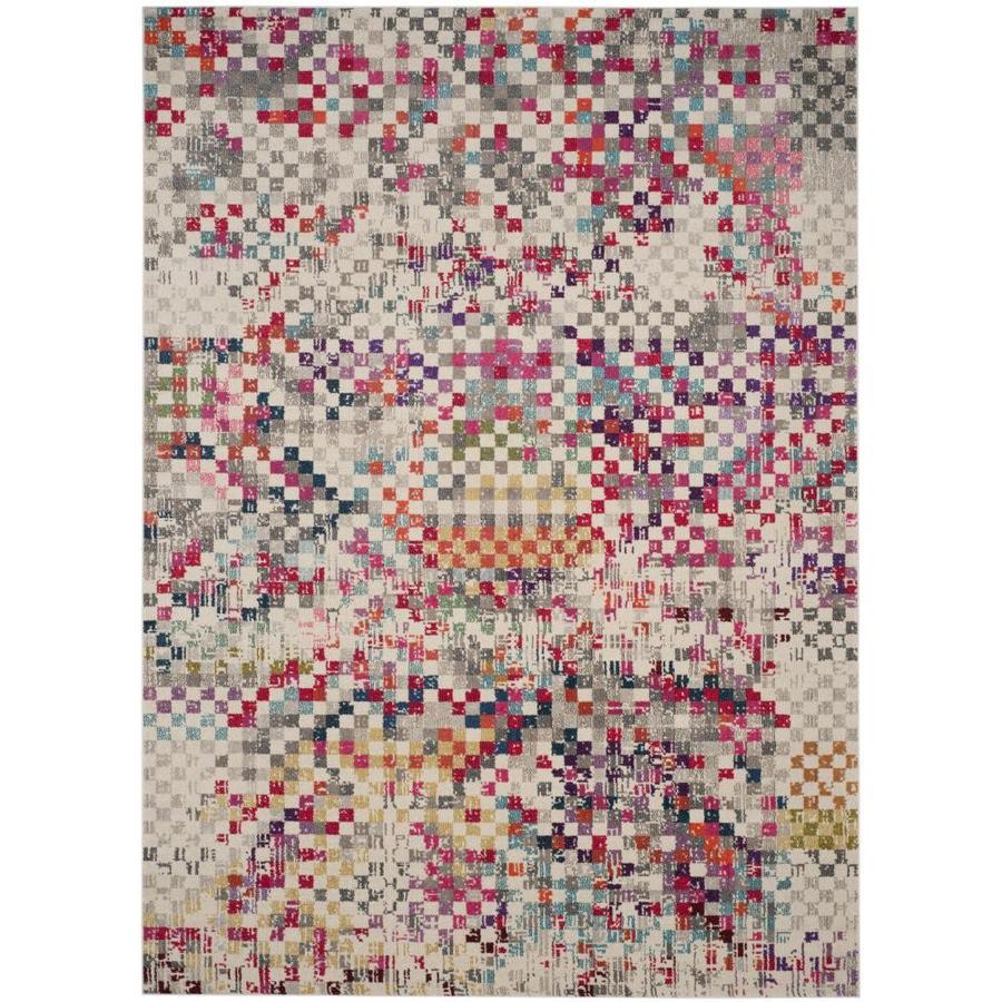 Safavieh Monaco Rutta Gray Indoor Area Rug (Common: 10 x 14; Actual: 10-ft W x 14-ft L)