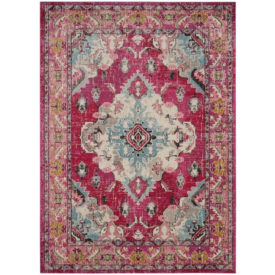 Safavieh Monaco Mahal Pink Indoor Distressed Area Rug (Common: 8 x 10; Actual: 8-ft W x 10-ft L)