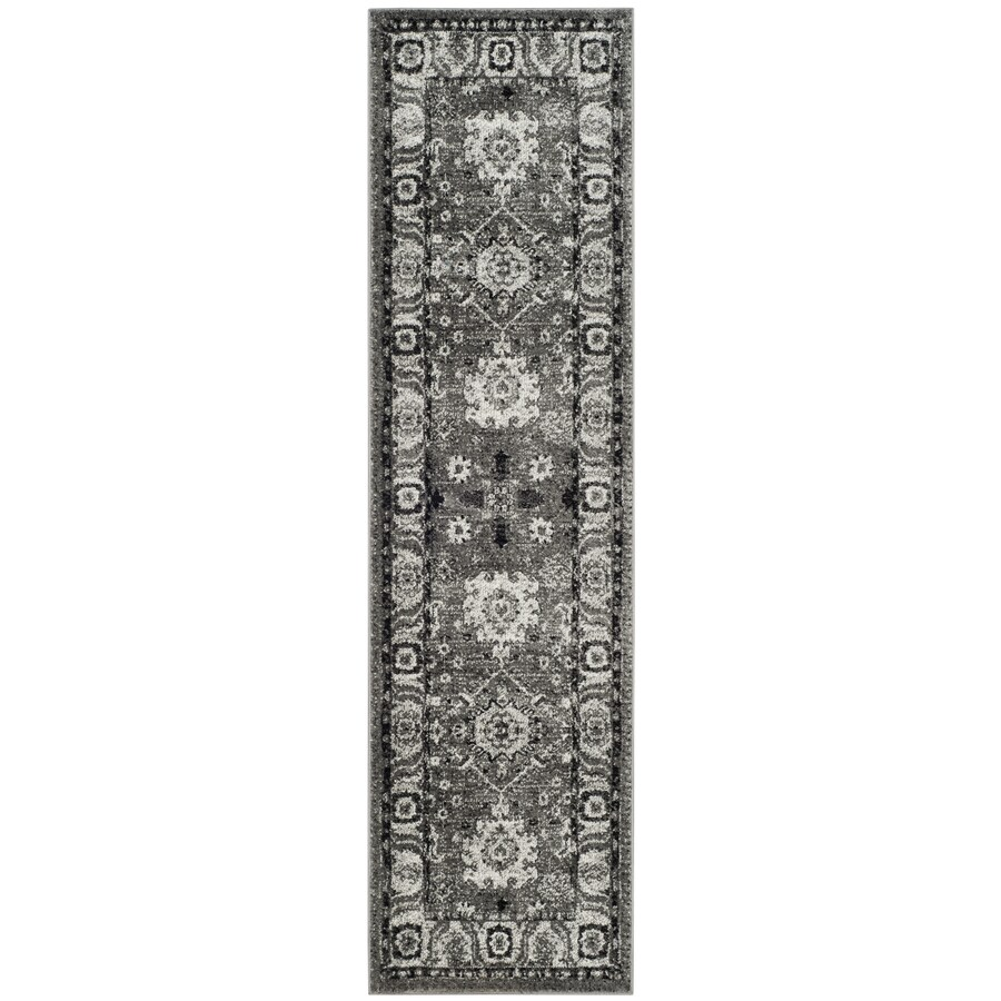 Safavieh Vintage Hamadan Baktiar Gray/Black Indoor Lodge Runner (Common: 2 x 8; Actual: 2.2-ft W x 8-ft L)