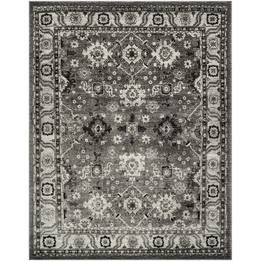Safavieh Vintage Hamadan Baktiar Gray/Black Indoor Lodge Area Rug (Common: 5 x 8; Actual: 5.3-ft W x 7.5-ft L)