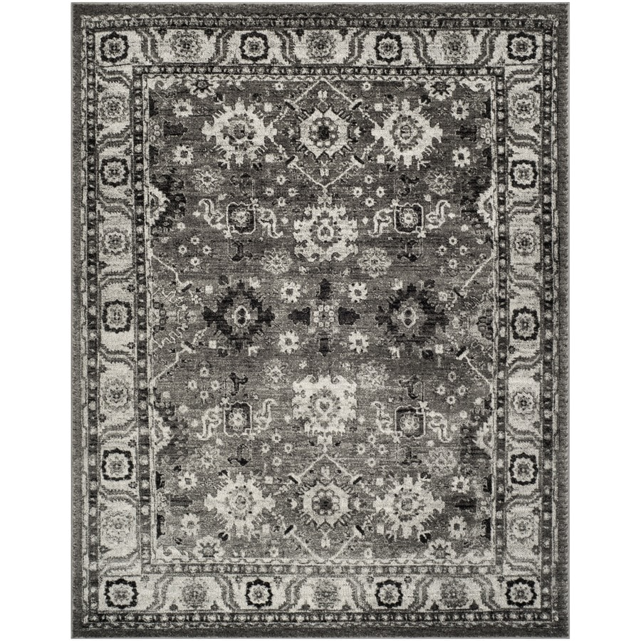 Safavieh Vintage Hamadan Baktiar Gray/Black Indoor Lodge Area Rug (Common: 7 x 9; Actual: 6.7-ft W x 9-ft L)
