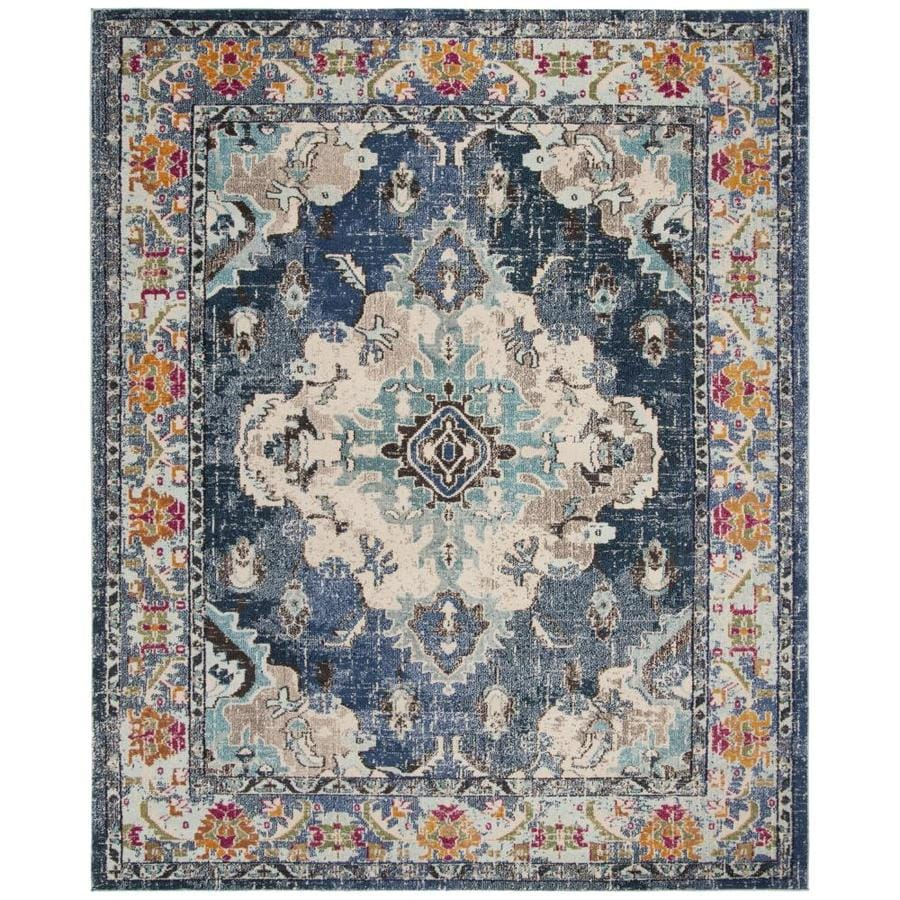 Shop Safavieh Monaco Mahal Navy Light Blue Indoor Oriental