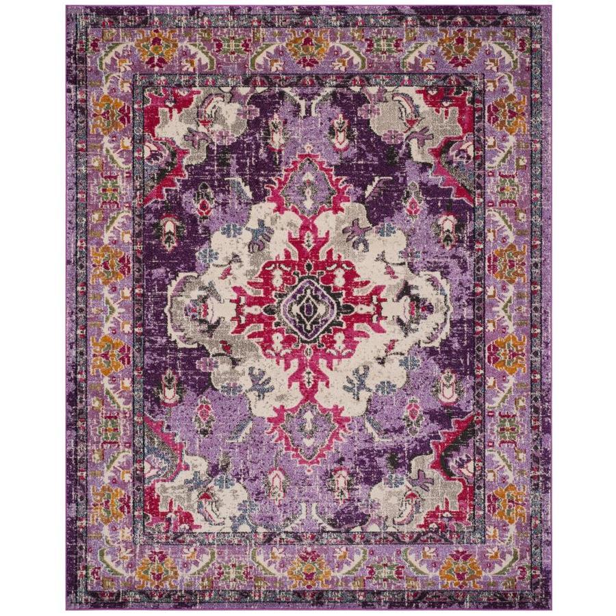 Safavieh Monaco Mahal Violet/Fuchsia Indoor Distressed Area Rug (Common: 7 x 9; Actual: 6.7-ft W x 9.2-ft L)