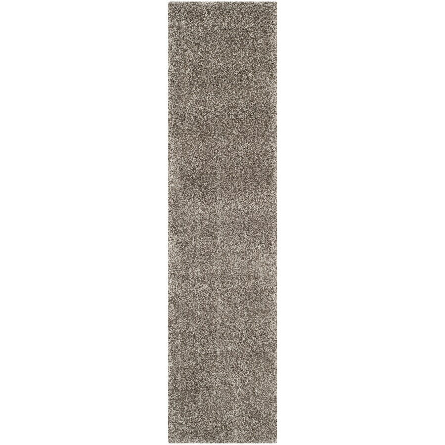 Safavieh Milan Shag Gray Rectangular Indoor Runner (Common: 2 x 14; Actual: 2-ft W x 14-ft L)
