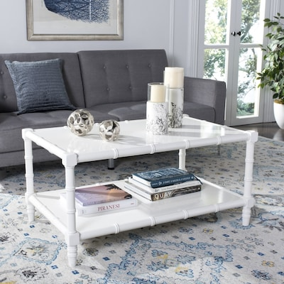 Phenomenal Safavieh Noam White Wood Coffee Table At Lowes Com Ocoug Best Dining Table And Chair Ideas Images Ocougorg