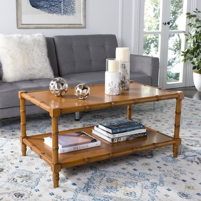 Safavieh Noam Brown Wood Coffee Table at Lowes.com