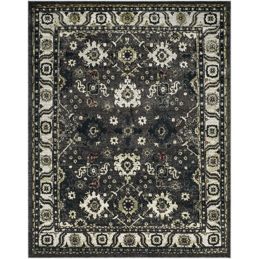 Safavieh Vintage Hamadan Baktiar Dark Gray/Ivory Indoor Lodge Area Rug (Common: 8 x 10; Actual: 8-ft W x 10-ft L)