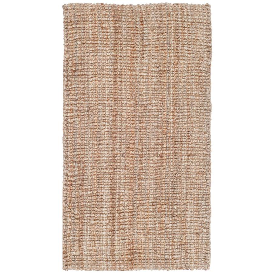 Safavieh Natural Fiber Bellport Natural Indoor Handcrafted Coastal Throw Rug (Common: 2 x 3; Actual: 2-ft W x 3-ft L)