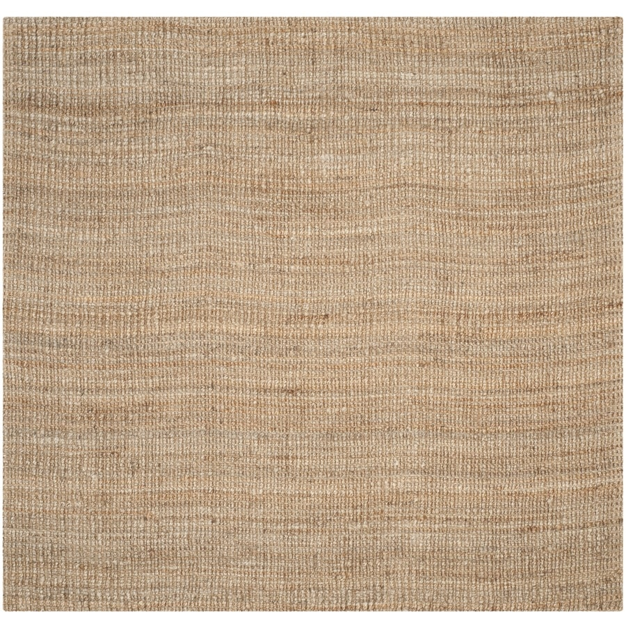 Safavieh Natural Fiber Bellport Natural Square Indoor Handcrafted Coastal Area Rug (Common: 5 x 5; Actual: 5-ft W x 5-ft L)