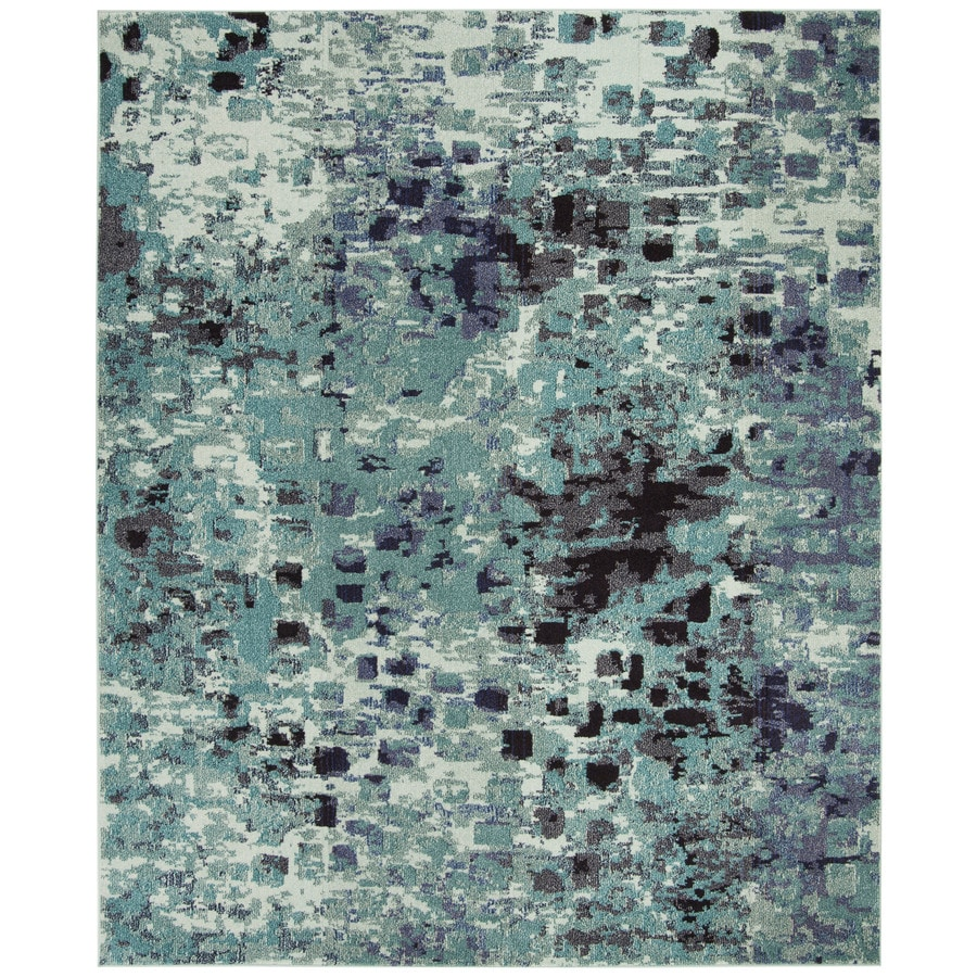 Safavieh Monaco Gogh Teal Indoor Area Rug (Common: 9 x 12; Actual: 9-ft W x 12-ft L)