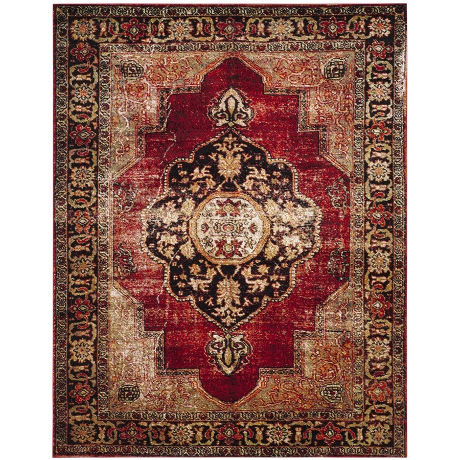 Safavieh Vintage Hamadan Tabriz Red Indoor Lodge Area Rug (Common: 11 x 15; Actual: 11-ft W x 15-ft L)