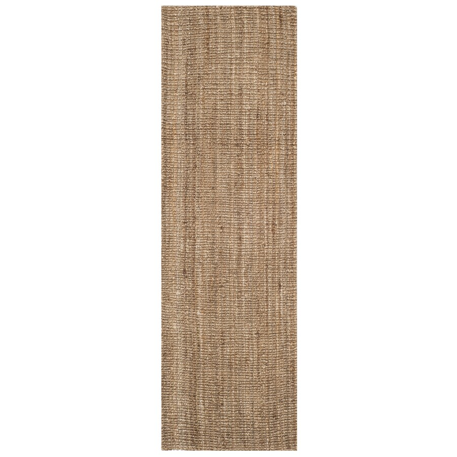 Safavieh Natural Fiber Bellport Natural/Gray Indoor Handcrafted Coastal Runner (Common: 2 x 14; Actual: 2.5-ft W x 14-ft L)