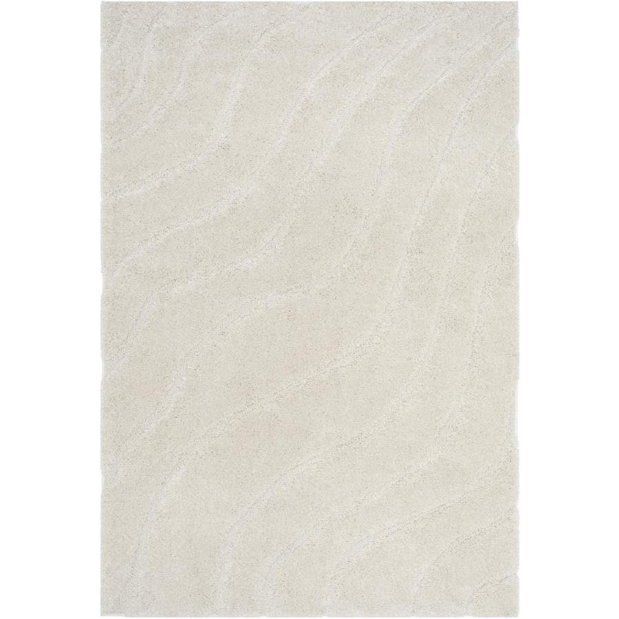 safavieh rugs 8x10. Safavieh Florida Waves Shag Creme/Creme Indoor Tropical Area Rug (Common: 8 X Rugs 8x10 W