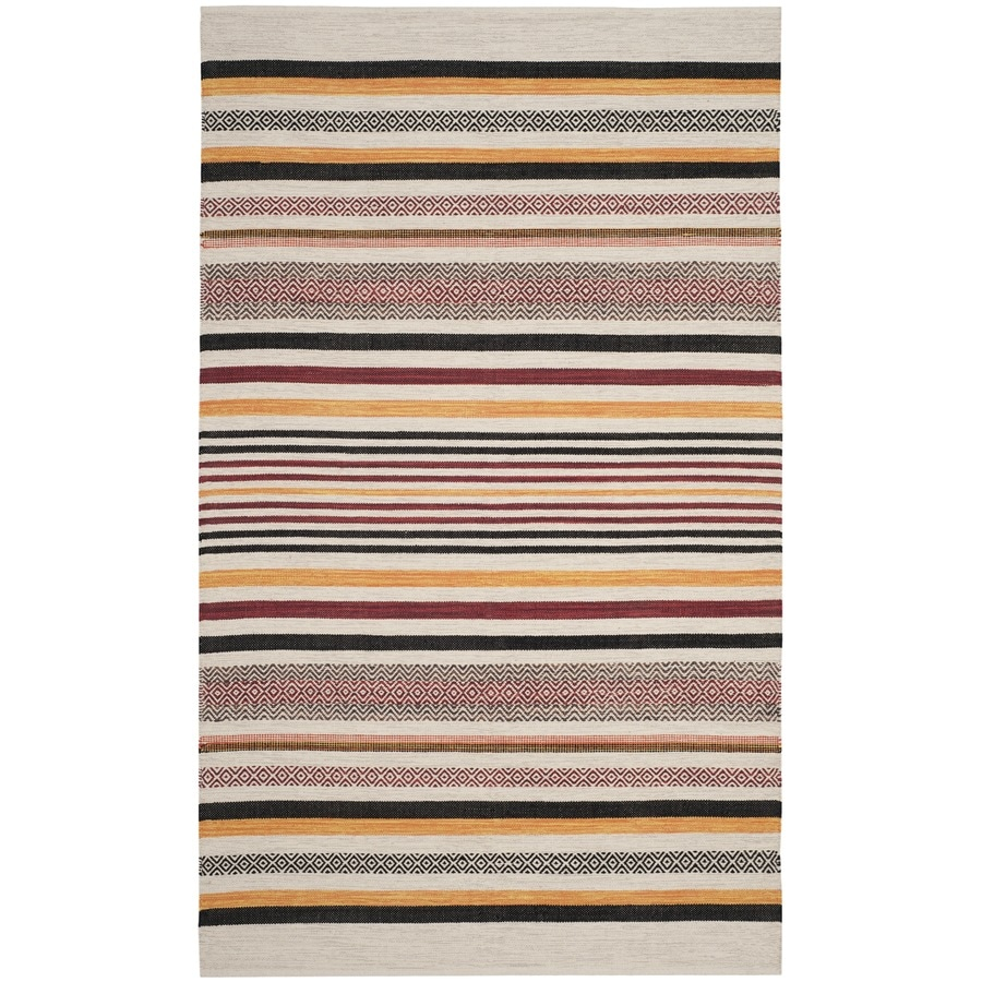 Safavieh Montauk Bronte Red Indoor Handcrafted Coastal Area Rug (Common: 5 x 8; Actual: 5-ft W x 8-ft L)