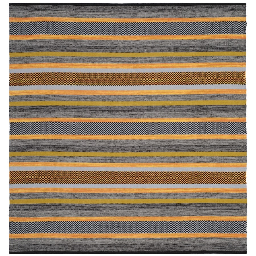 Safavieh Montauk Hyams Navy Square Indoor Handcrafted Coastal Area Rug (Common: 6 x 6; Actual: 6-ft W x 6-ft L)