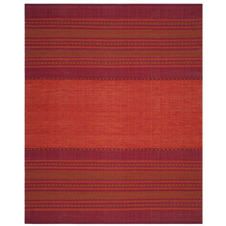 Safavieh Montauk Binalong Orange/Red Indoor Handcrafted Coastal Area Rug (Common: 8 x 10; Actual: 8-ft W x 10-ft L)