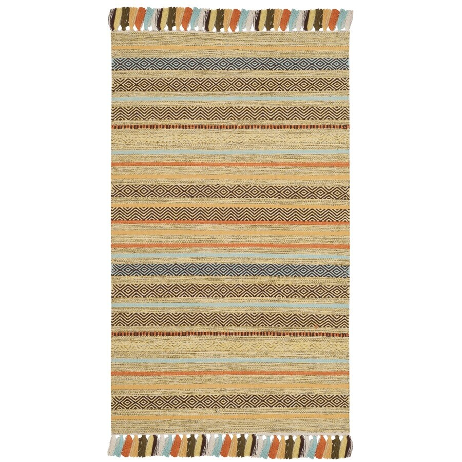 Safavieh Montauk Cabrillo Green Indoor Handcrafted Coastal Area Rug (Common: 5 x 8; Actual: 5-ft W x 8-ft L)
