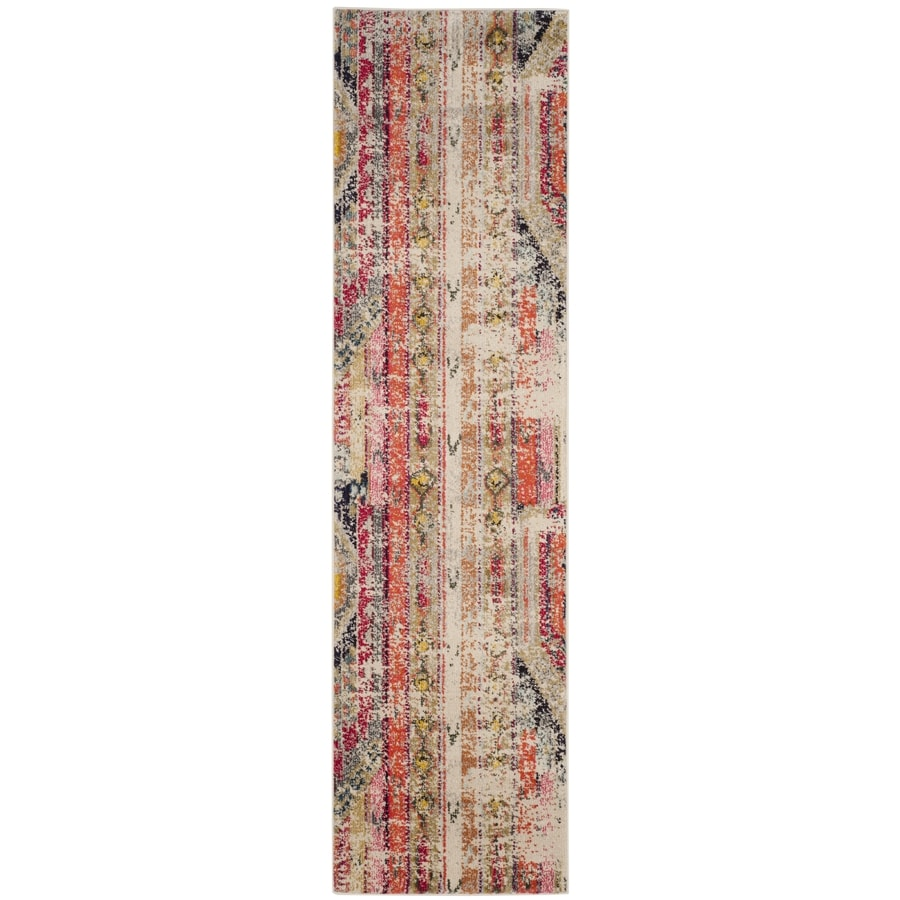 Safavieh Monaco Kolby Light Gray Indoor Distressed Runner (Common: 2 x 16; Actual: 2.2-ft W x 16-ft L)