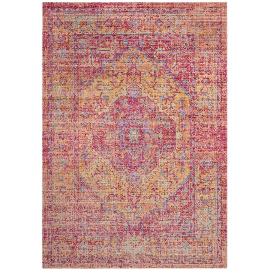 Safavieh Windsor Heriz Gold/Fuchsia Indoor Oriental Area Rug (Common: 8 x 10; Actual: 8-ft W x 10-ft L)