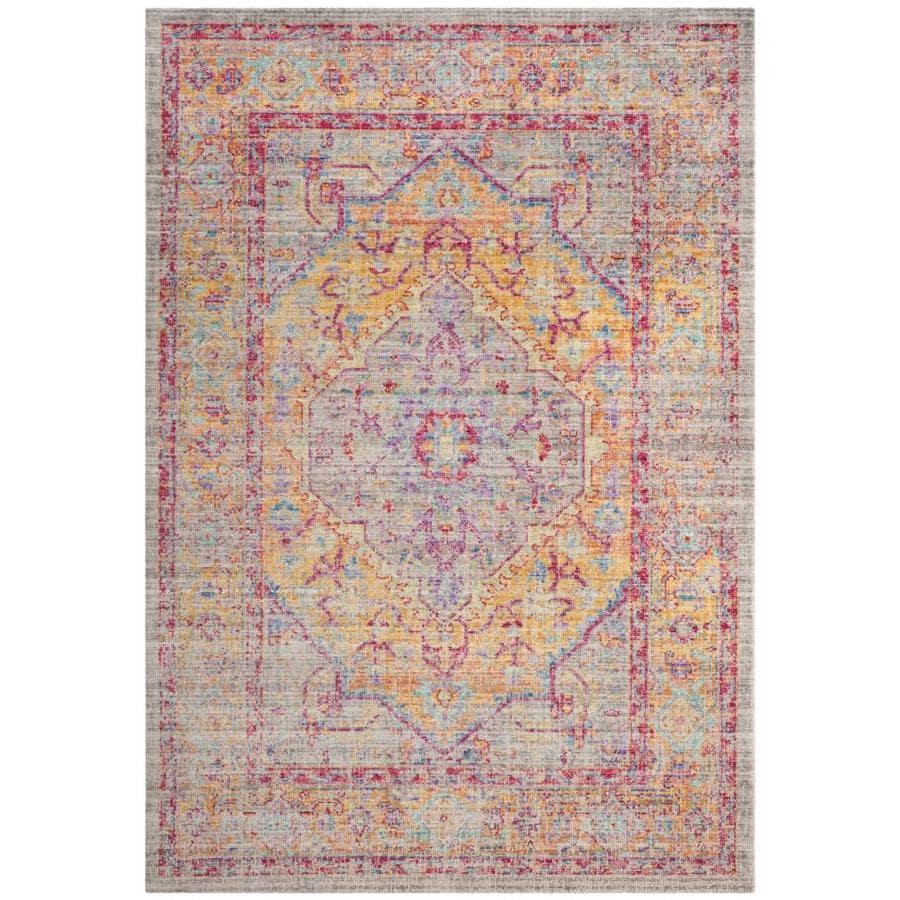 Safavieh Windsor Heriz Gray/Gold Indoor Oriental Area Rug (Common: 5 x 7; Actual: 5-ft W x 7-ft L)