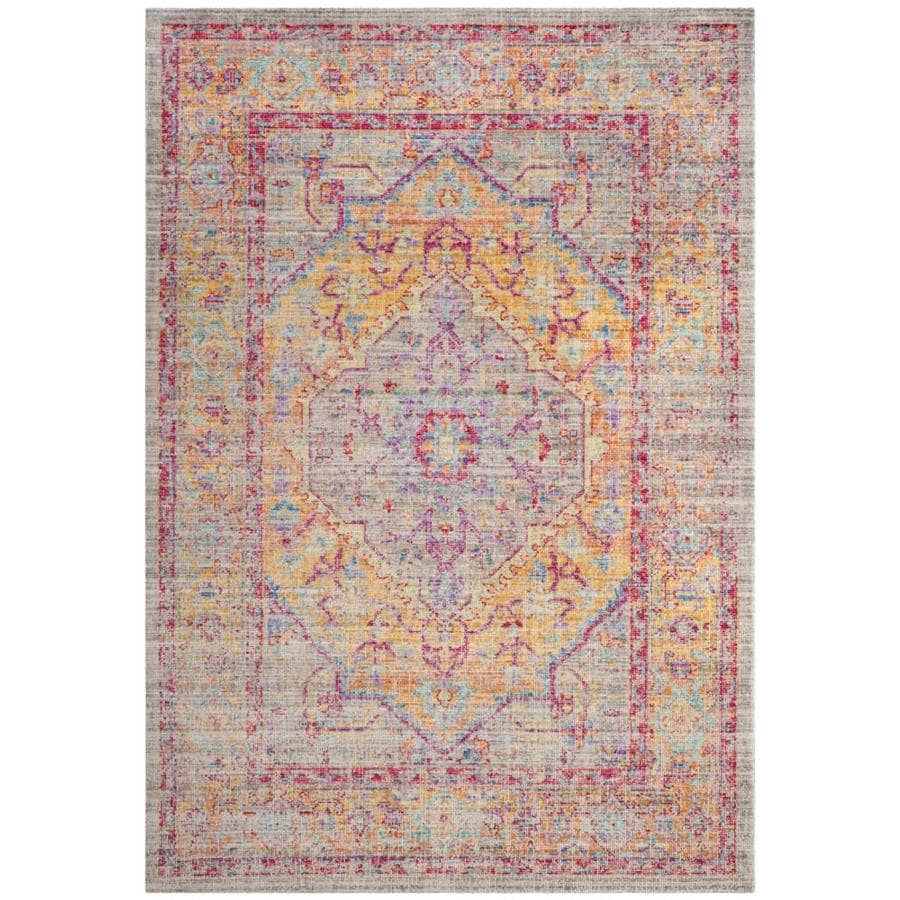 Safavieh Windsor Heriz Gray/Gold Indoor Oriental Area Rug (Common: 9 x 13; Actual: 9-ft W x 13-ft L)