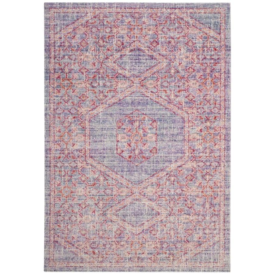 Safavieh Windsor Masad Lavender/Fuchsia Rectangular Indoor Machine-made Oriental Area Rug (Common: 5 x 7; Actual: 5-ft W x 7-ft)