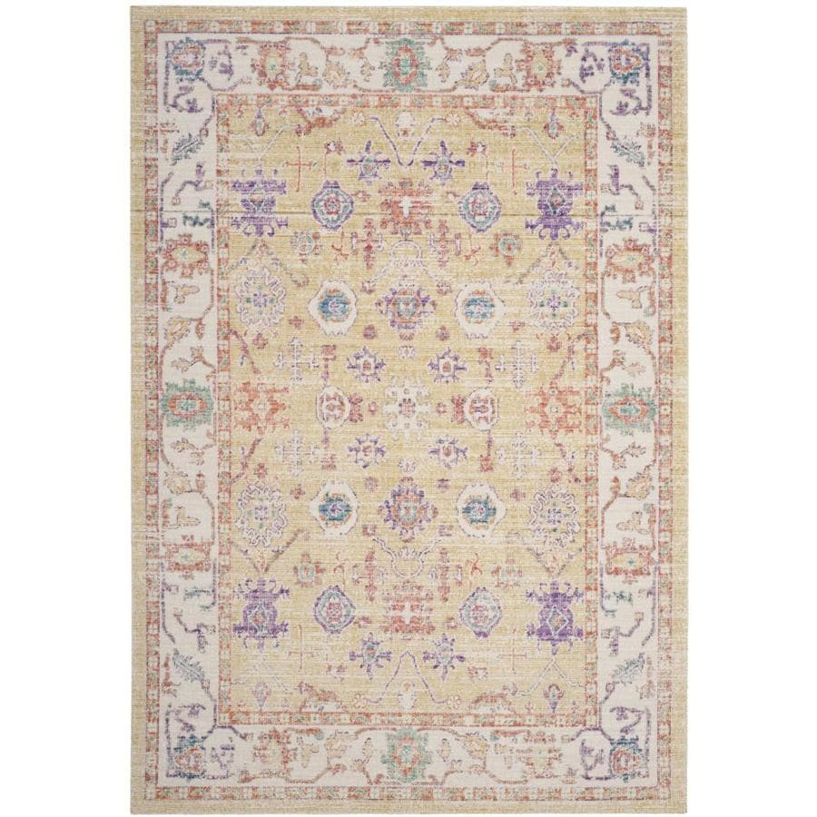 Safavieh Windsor Tyre Gold/Lavender Rectangular Indoor Machine-Made Oriental Area Rug (Common: 8 x 10; Actual: 8-ft W x 10-ft L)