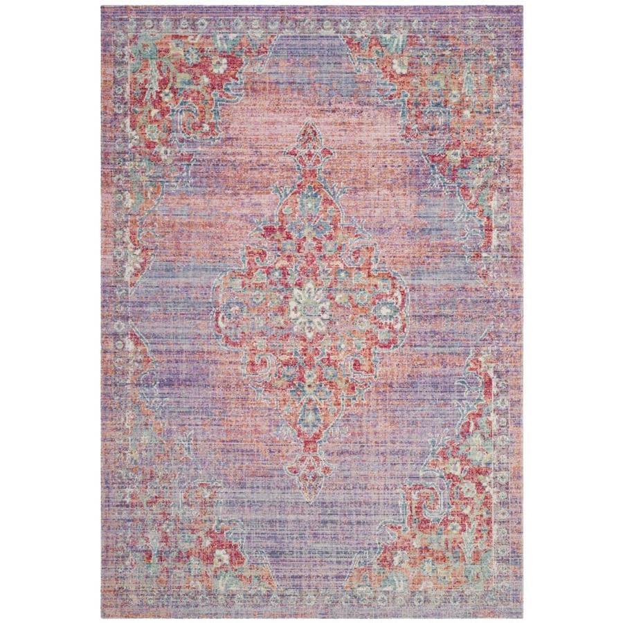 Safavieh Windsor Arad Lavender/Fuchsia Rectangular Indoor Machine-Made Oriental Area Rug (Common: 8 x 10; Actual: 8-ft W x 10-ft L)