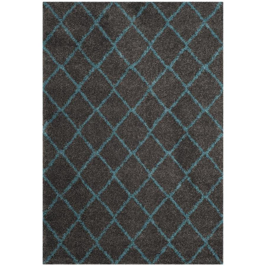 Safavieh Arizona Minerva Gray/Turquoise Indoor Area Rug (Common: 7 x 9; Actual: 6.7-ft W x 9.2-ft L)
