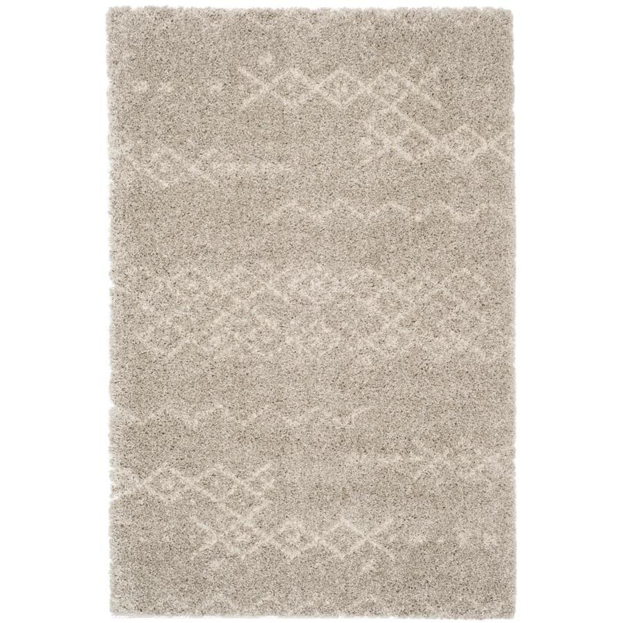 Safavieh Arizona Jed Gray/Ivory Indoor Area Rug (Common: 4 x 6; Actual: 4-ft W x 6-ft L)